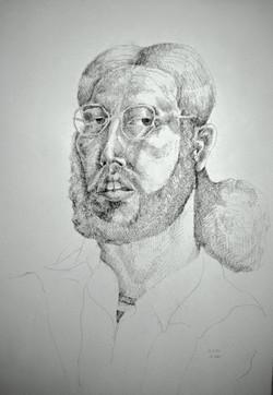 Self Portrait w/Glasses '74