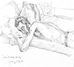 Pushkin Asleep w/Jet-Lag