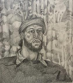 Portrait w/Stocking Cap'74