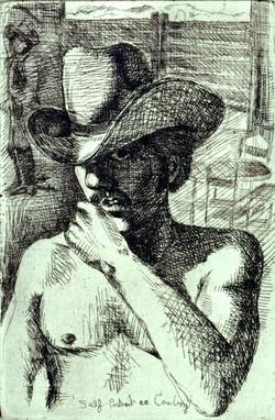Self Portrait as Cowboy '81