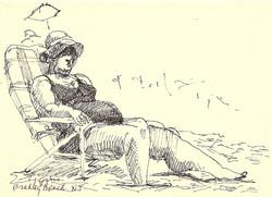 Woman in Chair Bradley Beach