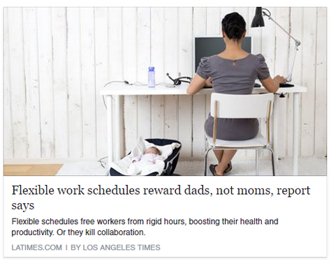Flexible work schedules reward dads, not moms, report says