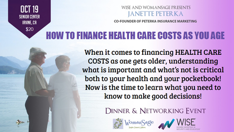 HOW TO FINANCE HEALTH CARE COSTS AS YOU AGE | OCT 19, 2017