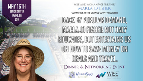 Back by popular demand, Marla Jo Fisher not only educates, but entertains us on how to save money on