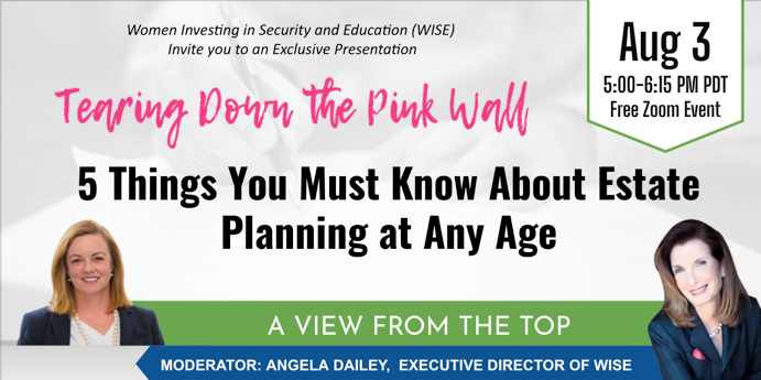 5 Things You Must Know About Estate Planning at Any Age | Aug 3rd