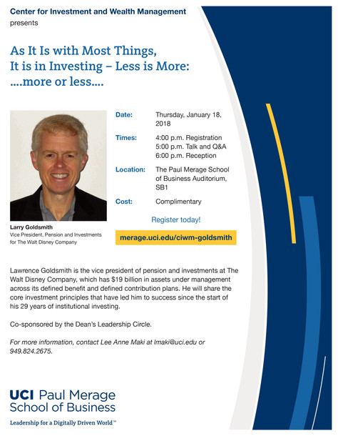 Bonus Event for WISE Membership - Complimentary at UCI | Jan 18