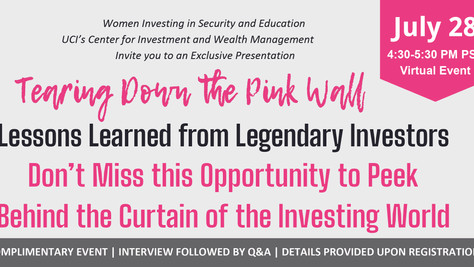 Tearing Down the Pink Wall: Lessons Learned from Legendary Investors