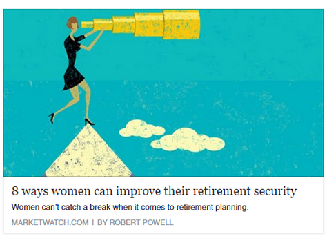 8 ways women can improve their retirement security