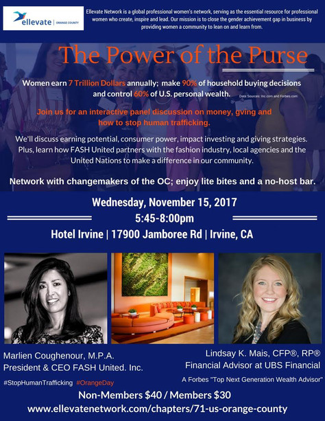 The Power of the Purse: an interactive panel discussion on money, giving and stopping human traffick
