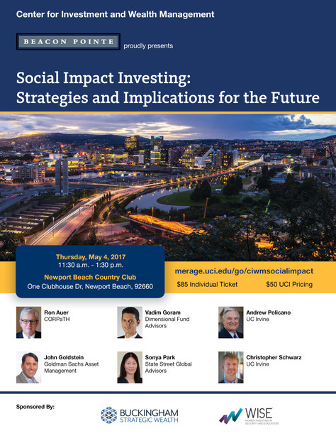 Social Impact Investing: Strategies and Implications for the Future May 4, 2017