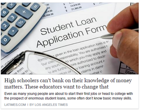 High schoolers can't bank on their knowledge of money matters. These educators want to change th