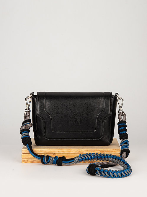 Mini Modern Man in Black handbag with a twisted strap