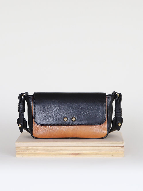 Leather bag Sugar Love Black / Camel