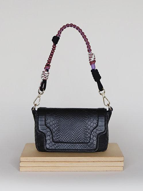 Tiny Modern Black Mamba twisted strap