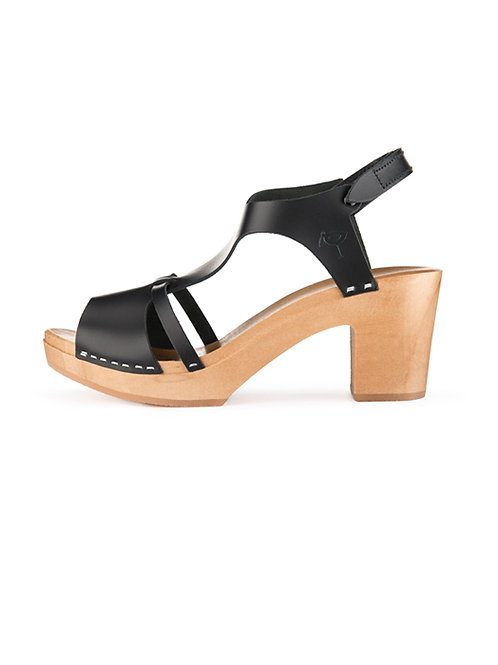 Sandałki ze skóry i drewna