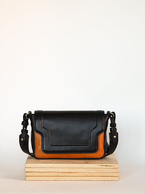 Mini Modern Leather Bag Black/Camel
