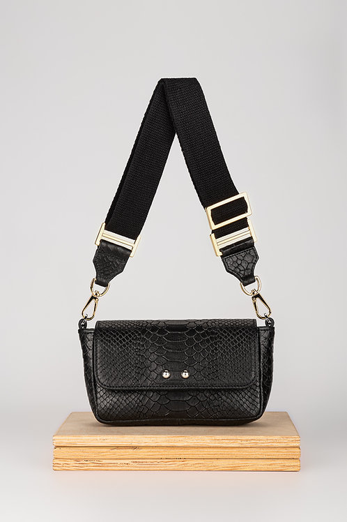 Sugar Love Black Mamba leather belt bag