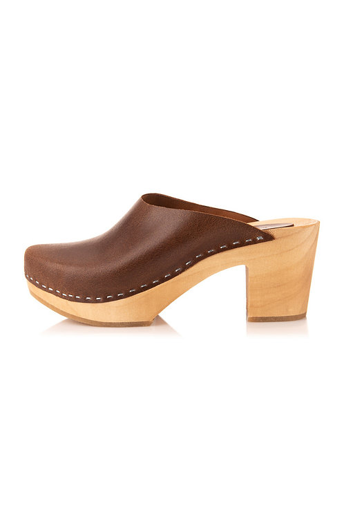 Skórzane buty na obcasie Vinatge Look