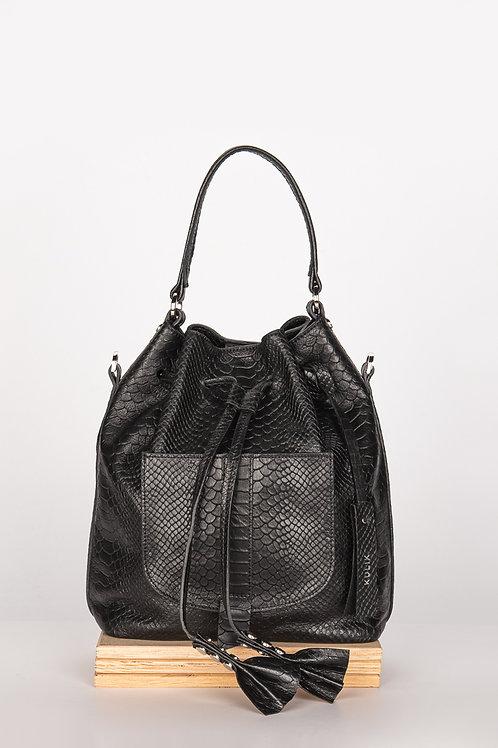 Damaski worek, torebka, plecak 3in1 czarna mamba