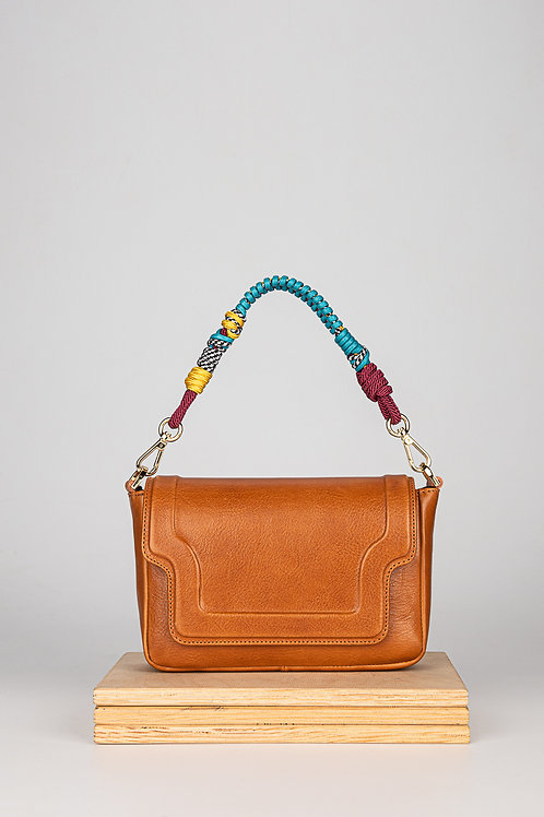 Mini Modern Kamel Pick handbag with a twisted belt