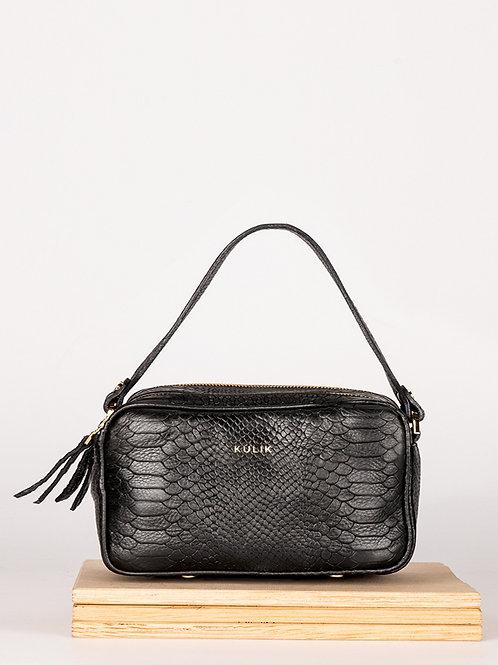 Shoulder bag Sugar Box black python