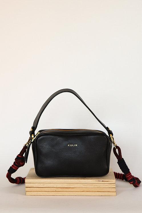 Sugar Box Shoulder Bag With Woven Belt