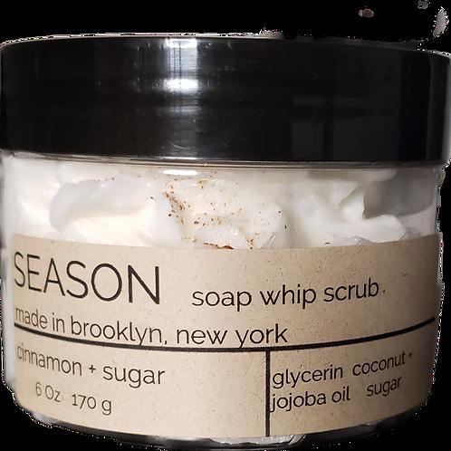 cinnamon + sugar soap whip scrub