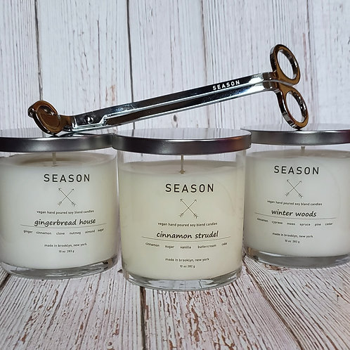 triple candle holiday set