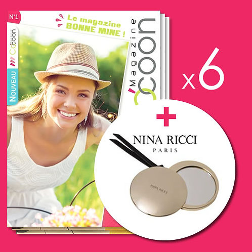 Abonnement d'un an - 6 numéros + Miroir Nina Ricci