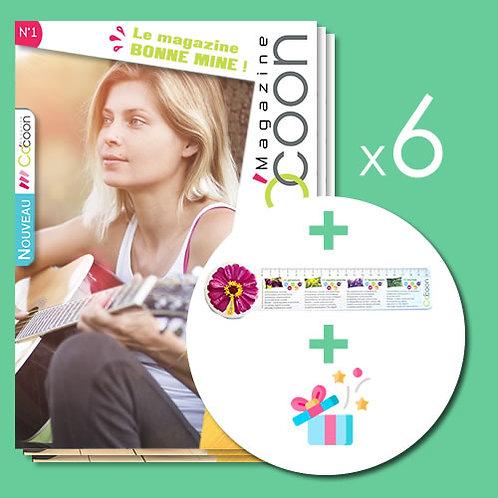 Abonnement 1 an - 6 numéros + Une règle / marque page exclusive + Surprises