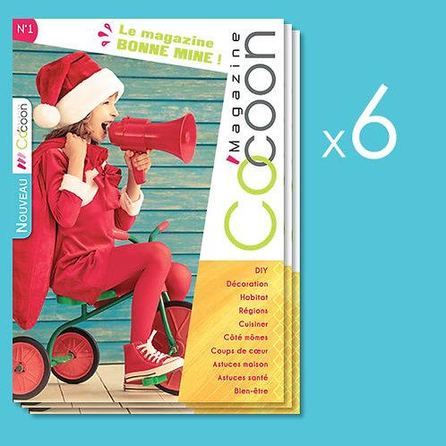 Abonnement d'un an - 6 numéros