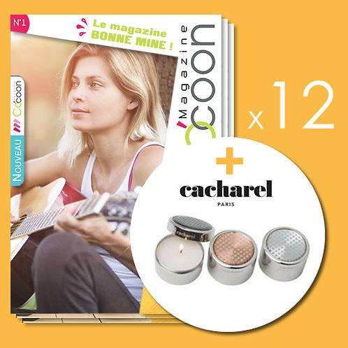 Abonnement 2 ans - 12 numéros + set bougies Cacharel