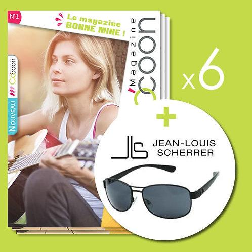 Abonnement d'un an - 6 numéros + Lunettes Jean-Louis Scherrer