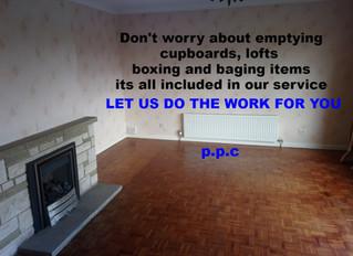 How do I prepare for a house clearance