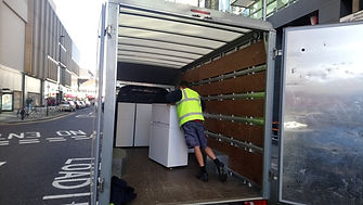 pristine property clearance employee loading a van in Airdrie