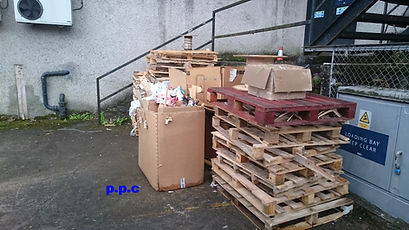 A picture of rubbish removal by pristine property clearance