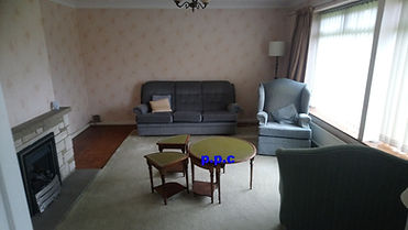 A room to be cleared by pristine property clearance. House clearance Dunfermline