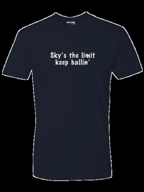 Sky's the Limit, Keep Ballin' T-Shirt (Navy)