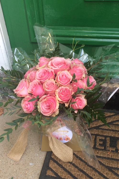 24 Roses Aqua Packed Bouquet