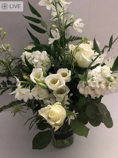 Neutral Posy Flower Jar