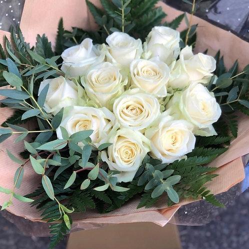 12 Rose Aqua Packed Bouquet
