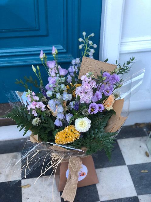 Pastel Posy Flower Jar
