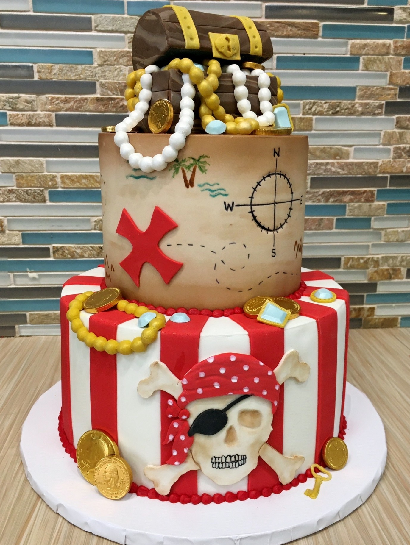 Pirate Treasure Birthday Cake
