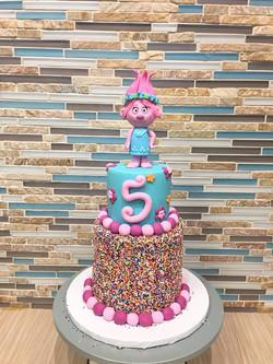 Princess Poppy Troll Birthday Cake