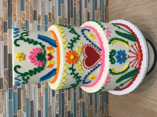 Fiesta Themed Engagement Cake