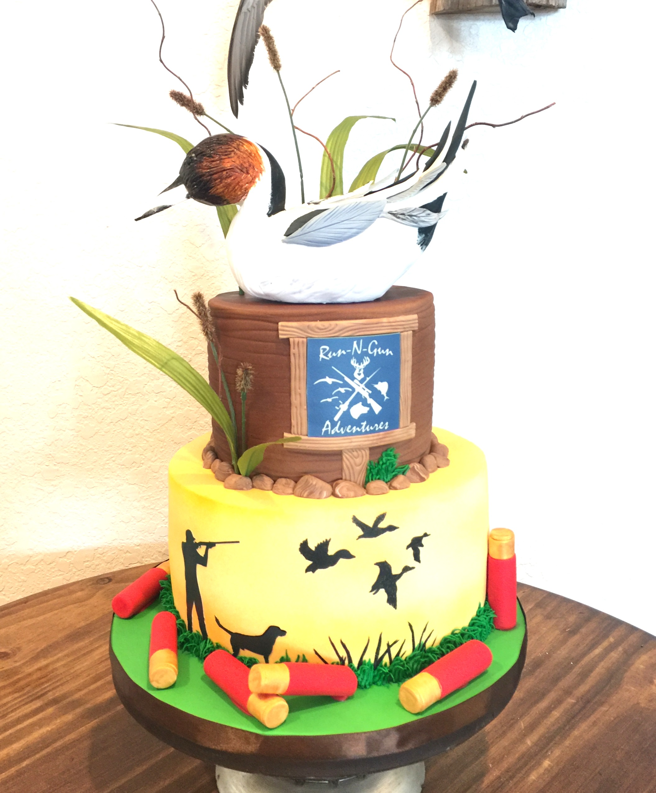 Duck Hunting Grooms Cake