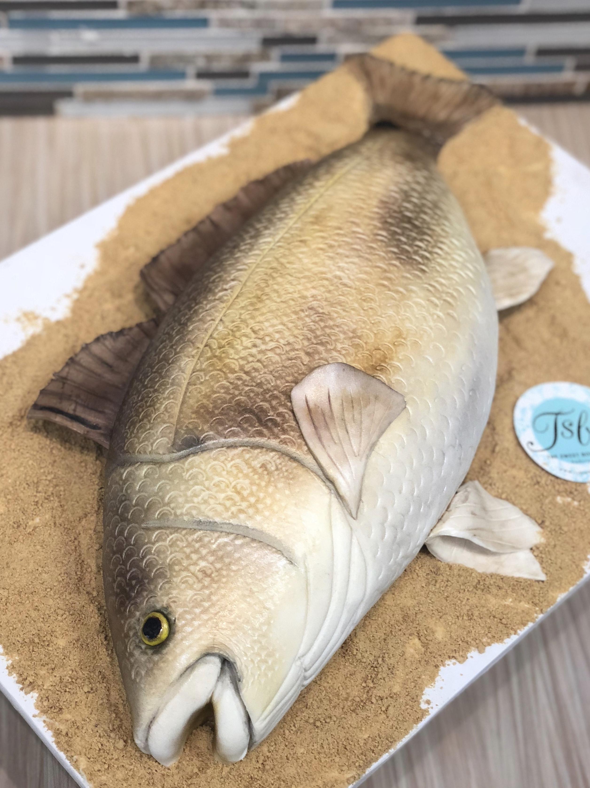 3D Redfish Grooms Cake