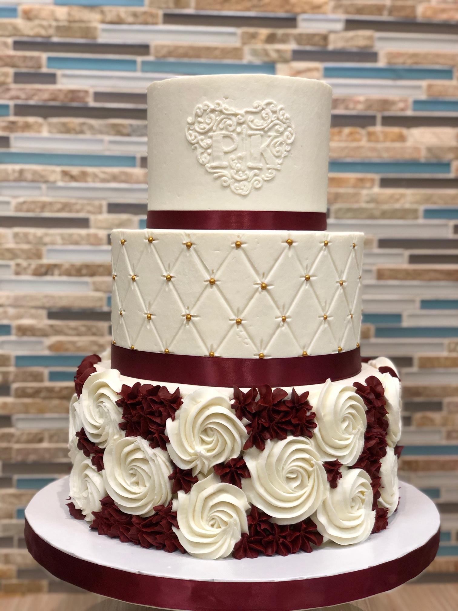 Buttercream Rosettes Wedding Cake