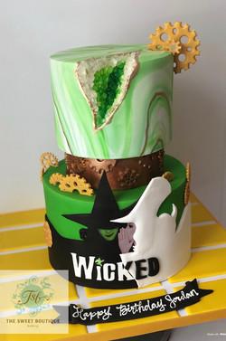 Wicked/Geode Birthday Cake