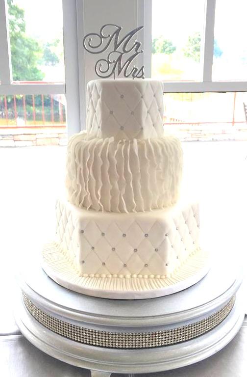 Ruffle Wedding Cake Design